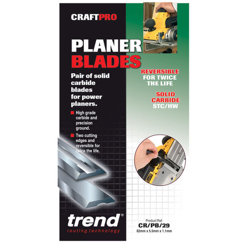Trend CR/PB29 CRAFTPRO 82mm Reversible Planer Blades