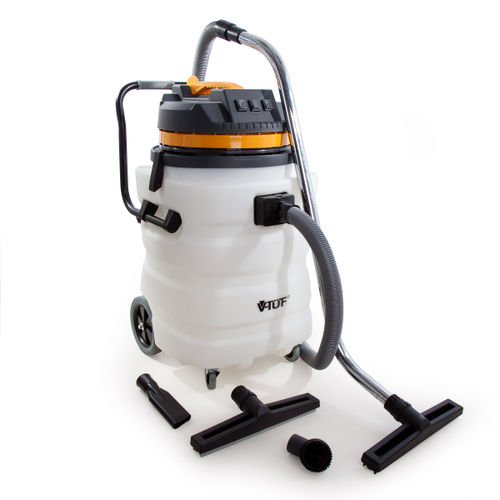V-TUF VT9000 Industrial Wet and Dry 90L Vacuum Cleaner with Accessories 240V