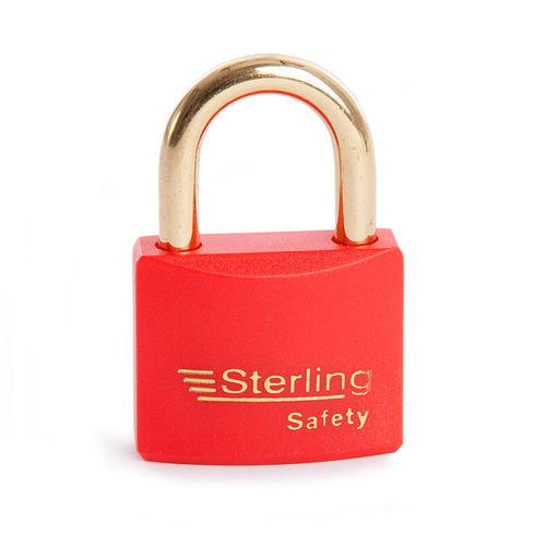 Sterling BL4R Safety Lockout Padlocks 40mm Double Locking KA4 Red
