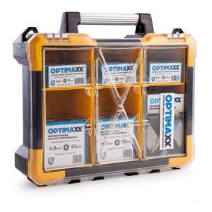 Optimaxx C288-742 Assorted Wood Screws in Midi Case (1200 Screws)