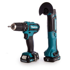 Makita CLX203AJX1 2 Piece Cordless Kit 10.8V CXT Li-ion - HP331 Combi Drill + TM30 Multi-Tool (2 x 2.0Ah Batteries)