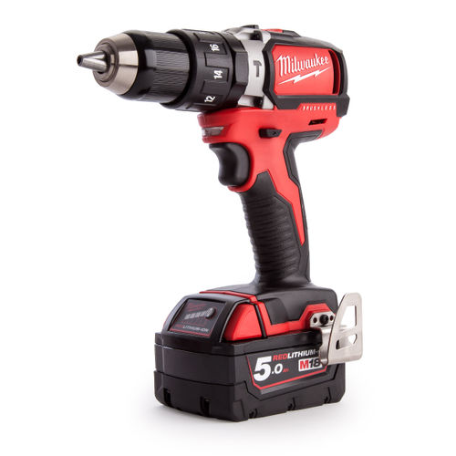 Milwaukee M18BLPD-503C M18 Brushless Percussion Drill (3 x 5.0Ah Batteries)