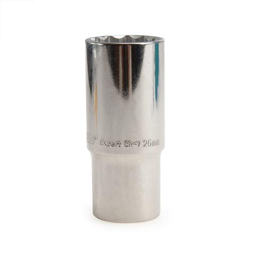 Draper 76495 (HT-MMB) Expert 26mm 1/2in Square Drive Hi-Torq 12 Point Deep Socket