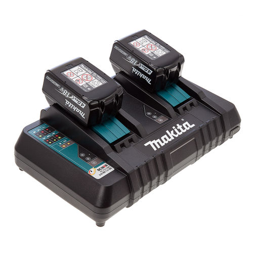 Makita DC18RD Twin Charger + 2 x BL1840B 18V 4.0Ah Batteries