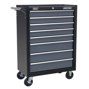 Sealey AP3508TB Rollcab 8 Drawer with Ball Bearing Runners - Black / Grey
