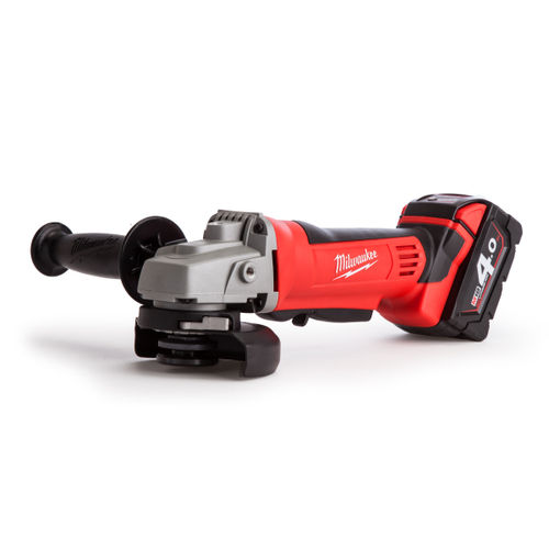 Milwaukee M18 HD18 Angle Grinder 115mm Charger and Case (2 x 4.0Ah Batteries)
