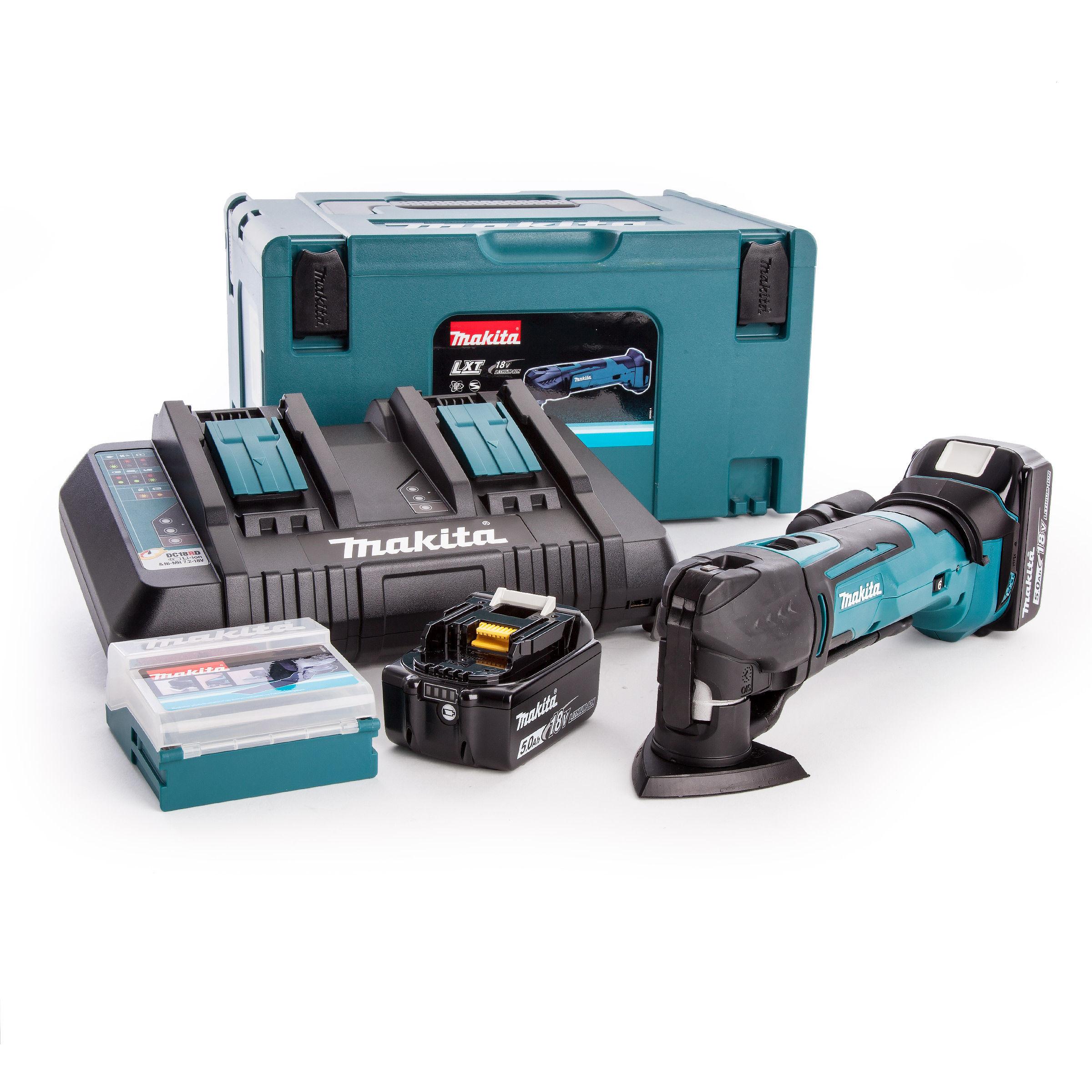 Extra 8 Pcs Accessories Makita DTM51Z 18V LXT Oscillating Multitool Mak Case