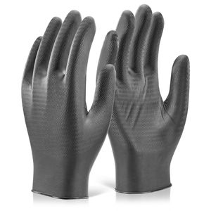 Glovezilla GZNDG10 Nitrile Powder Free Disposable Gloves in Black - X Large (Pack of 100)