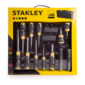 Stanley STHT0-70887 Screwdriver Socket and Bit Set with Bag 48 Piece