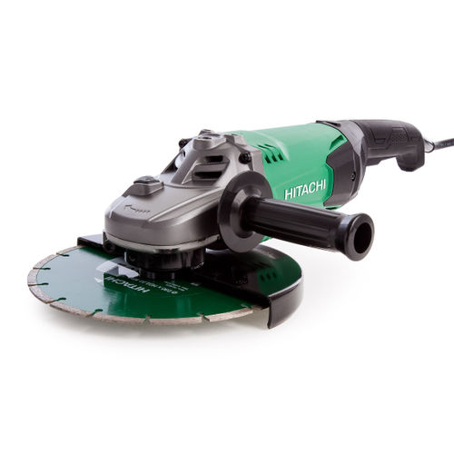 Hitachi G23ST Grinder with Diamond Blade and Carry Case 230mm / 9 Inch 240V