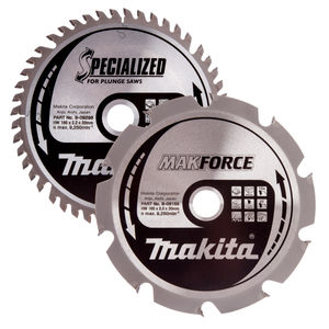 Makita B-49345 Specialized Circular Saw Blade for Plunge Saws 165mm (Pack of 2)