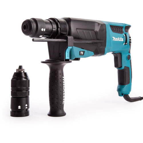 Makita HR2630T SDS+ 3 Mode Rotary Combination Hammer Drill with Keyless Quick Chuck 240V