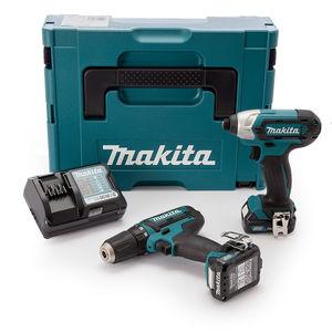 Makita CLX201AJ 2 Piece Cordless Kit 10.8V CXT Li-ion (2 x 2.0Ah Batteries)