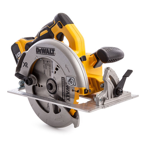 Dewalt DCS570P2 18V Cordless XR Brushless Circular Saw 184mm in T-STAK Kitbox (2 x 5.0Ah Batteries)