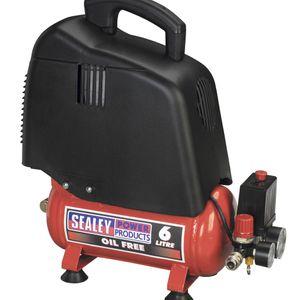 Sealey SAC00615 Compressor 6ltr Belt Drive 1.5hp Oil Free