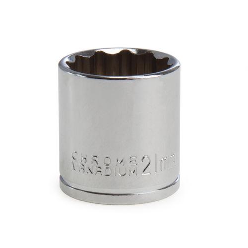Draper 13241 (D-MM) Expert 21mm 3/8in Square Drive Hi-torq Bi-hexagon Socket