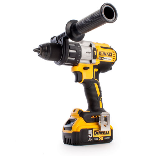 Dewalt DCD996P2 18V Cordless XR 3 Speed Brushless Combi Drill (2 x 5Ah Batteries) in ToughSystem Kitbox