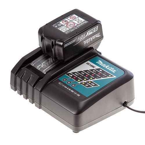 Makita DC18RC Charger + BL1850 5Ah Battery