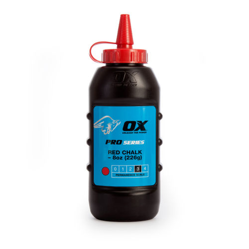OX Chalk Powder Pro Series 8oz / 226g - Red (P025701)