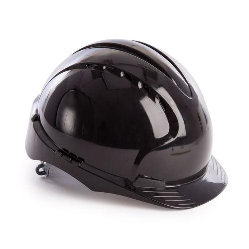 JSP AJF160-001-100 EVO3 Safety Helmet with Slip Ratchet - Vented - Black