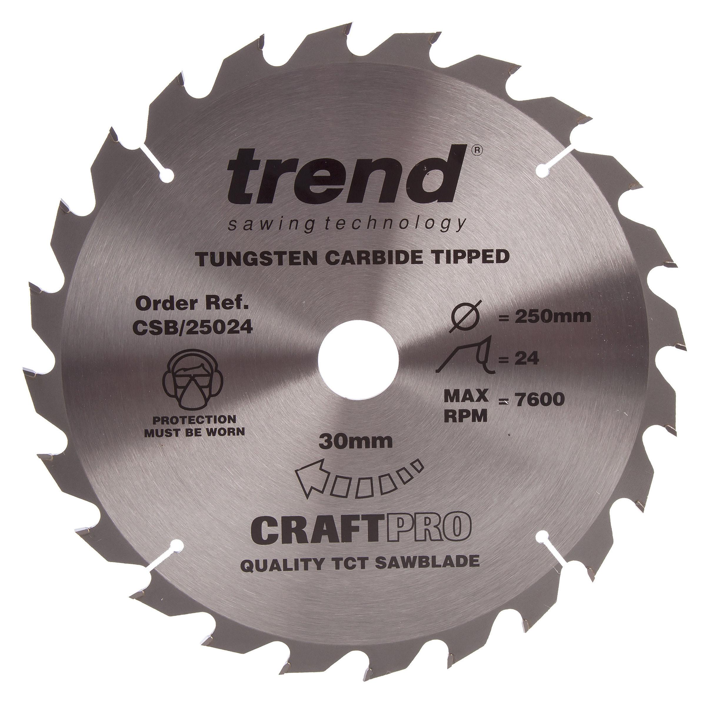 Trend CSB//CC26042 Craft saw blade crosscut 260 mm x 30 mm x 42 T