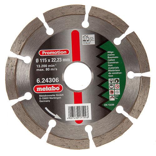 Metabo 6.24306 Diamond Cutting Disc 115 x 22.23mm