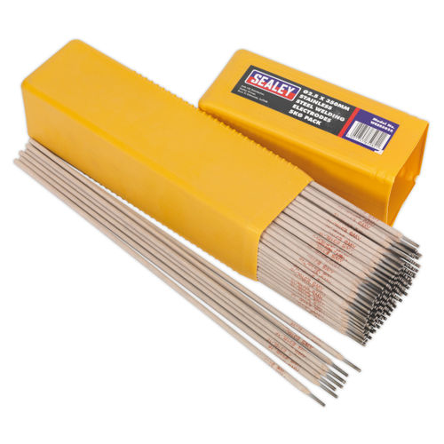 Sealey WESS5025 Welding Electrodes Stainless Steel ∅2.5 X 350mm 5kg Pack
