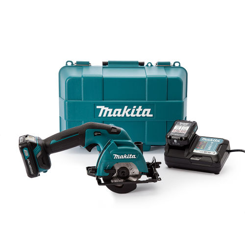 Makita HS301DWAE Circular Saw 85mm 10.8V CXT Cordless Li-ion (2 x 2.0Ah Batteries)