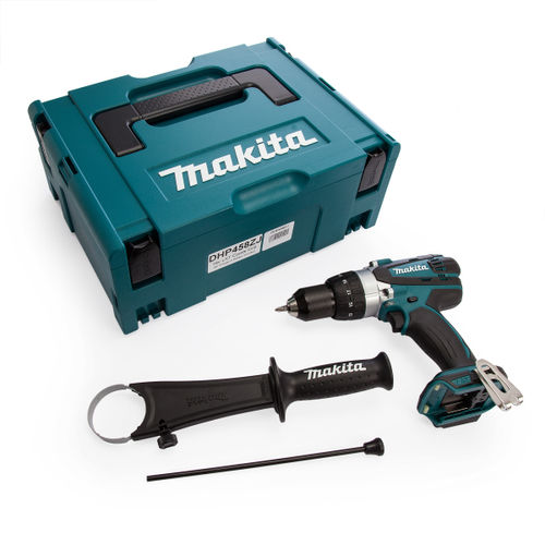 Makita DHP458ZJ 18V Compact 2-Speed Combi Drill (Body Only)