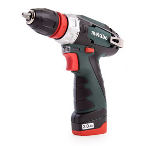 Metabo 600156580 10.8V PowerMaxx BS Quick Basic Drill Driver, 2 x 2.0Ah Batteries