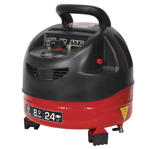 Sealey SAC03224 Compressor 24ltr Belt Drive 1.5hp Oil Free