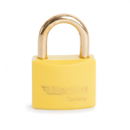 Sterling BL4Y Safety Lockout Padlocks 40mm Double Locking KA2 Yellow