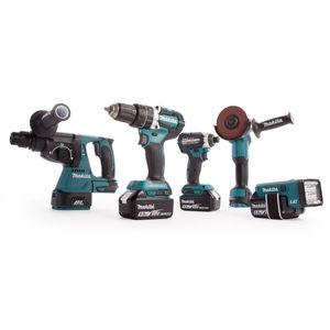 Makita DLX5042PT 18V LXT Brushless 5 Piece Cordless Kit  (3 x 5.0Ah Batteries)