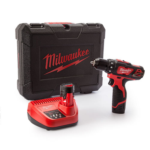 Milwaukee M12BDD Drill Driver Cordless 12V + Charger in Carry Case (2 x 1.5Ah Batteries)