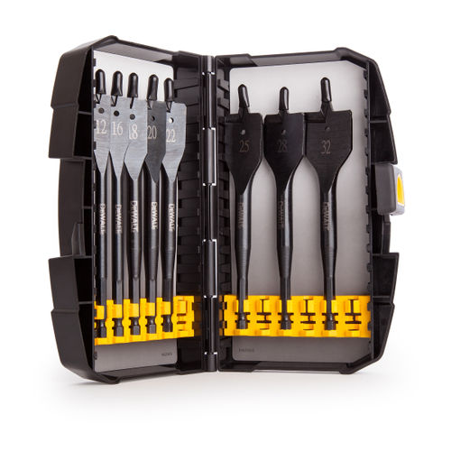 Dewalt DT7943B 8 Piece Extreme Flat Bit Set for Wood (12 - 32mm)