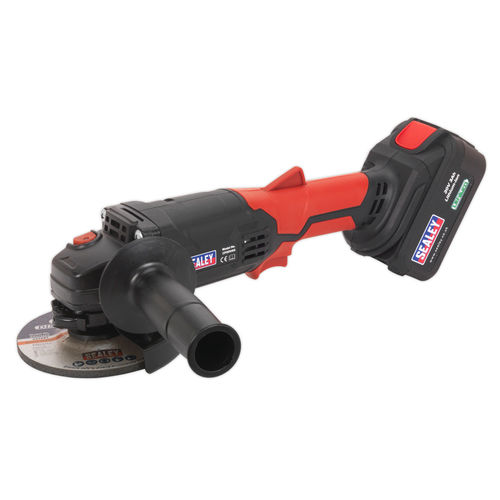 Sealey CP20VAG Cordless Angle Grinder 115mm 20V Lithium-ion 1hr Charge - 1 Battery