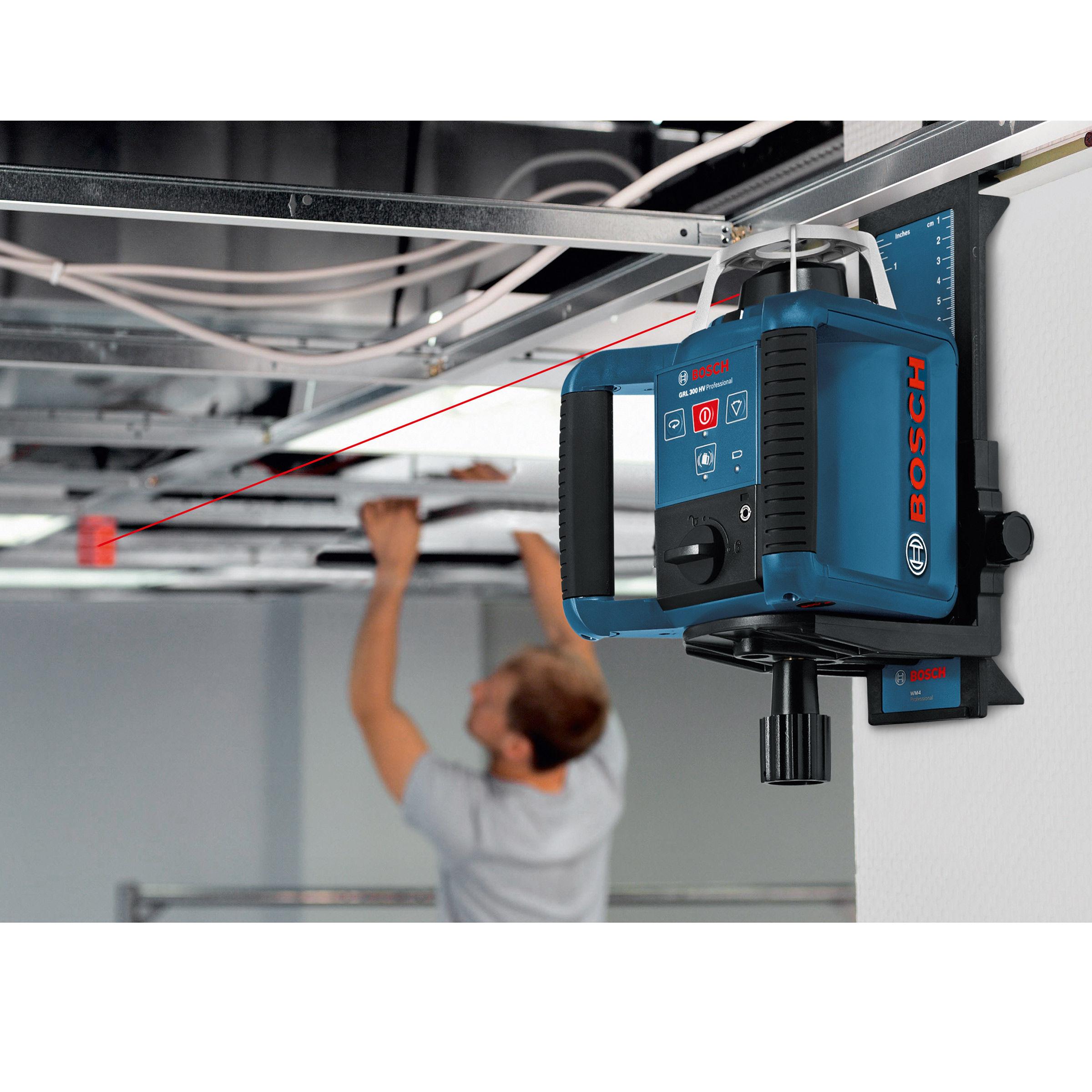 Toolstop Bosch GRL 300HV + LR1 + WM4 + RC1 - Rotary Laser Set