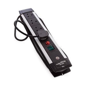 Brennenstuhl 1391003644 Premium-Alu-Line Extension Socket FB with Safety Fuse Button
