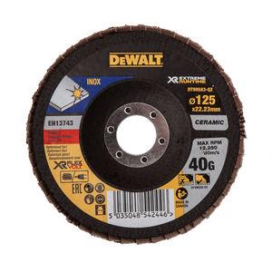 Dewalt DT99583-QZ Flap Disc XR FlexVolt Extreme Runtime 125mm x 22.23mm 40 Grit