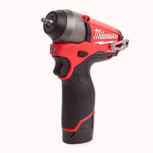 "Milwaukee M12CIW14-202C M12 Fuel Compact Impact Wrench 1/4"" Reception (2 x 2.0Ah Li-ion Batteries)"