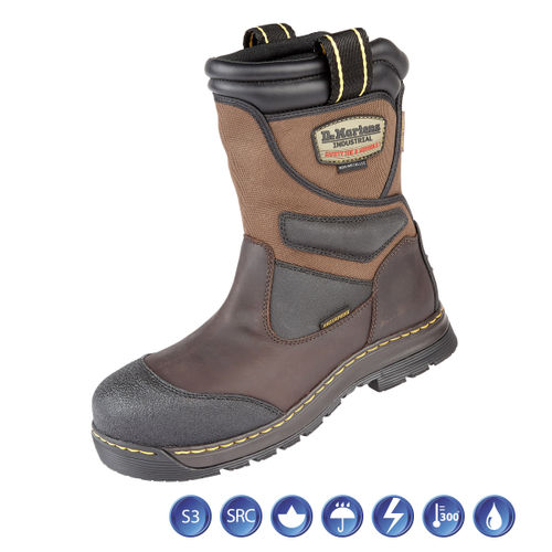 Dr Martens 6923 Turbine ST Gaucho Waterproof Metal Free Safety Rigger Boot (Heat & Slip Resistant) in Brown - Size 11