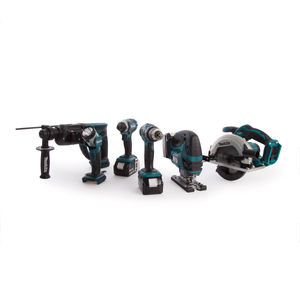 Makita DLX6068PT 18V li-ion 6 Piece Cordless Kit (3 x 5.0Ah Batteries) with Twin Charger