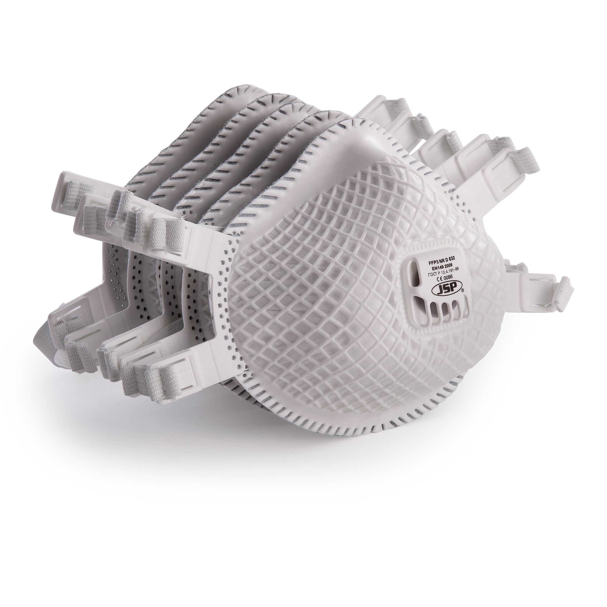 JSP BER130-001-000 Flexinet Mask FFP3 Valved (832) (Pack of 5)