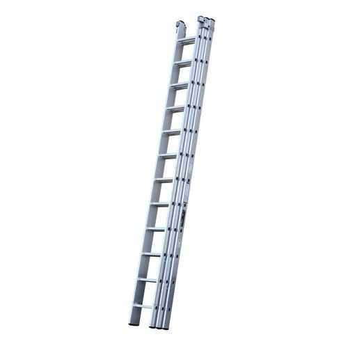Youngman 570123 Trade 200 3 Section Aluminium Extension Ladder 3.66 - 9.17 Metres