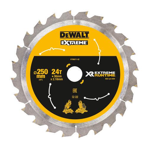 Dewalt DT99571-QZ XR Extreme Runtime Mitre Saw Blade 250/30mm 24T