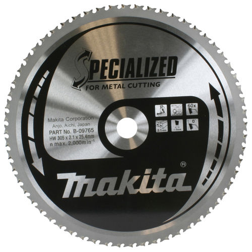 Makita B-09765 TCT Metal Circular Saw Blade 305mm x 25.4mm x 60T