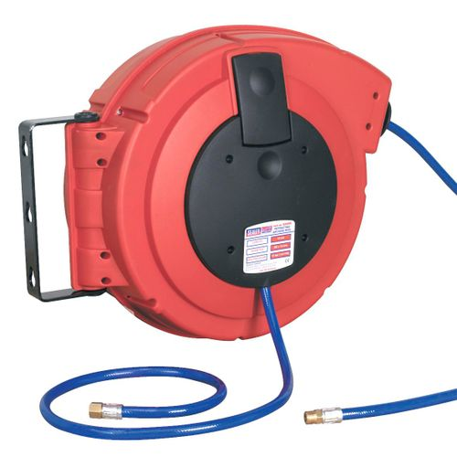 Sealey SA894 Retractable Air Hose Reel Hd Mechanism 15mtr ∅8mm Id Pu Hose