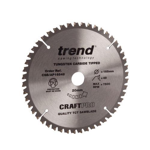 Trend CSB/AP16548 CraftPro TCP Saw Blade 165mm x 48 Teeth x 20mm