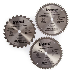 Trend Cordless Blade Triplepack Crosscut 184x16mm - 24T - 48T - 60T