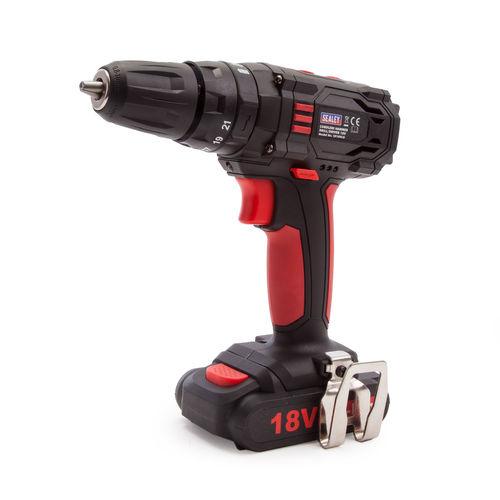 Sealey CP18VLD 18V Cordless Hammer Drill/Driver 10mm (1 x 1.5Ah Battery)